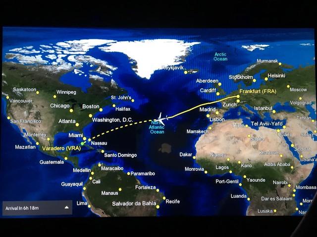 フランクフルトからバラデロへ12時間フライト