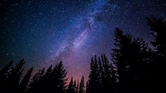 Night winter sky