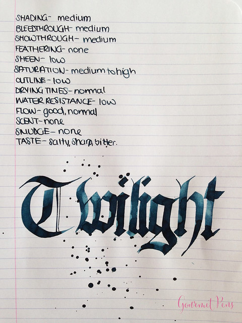Ink Shot Review Diamine Twilight @BureauDirect 6