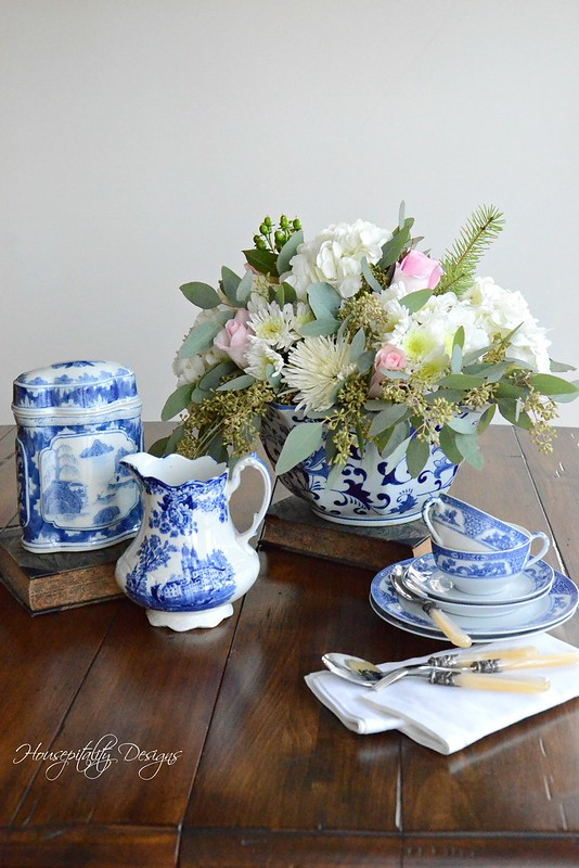 Blue and White Vignette-Housepitality Designs