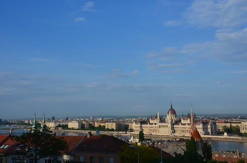 Blick auf das ungarische Parlements in Budapest