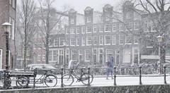 Harsh winter weather in Amsterdam
