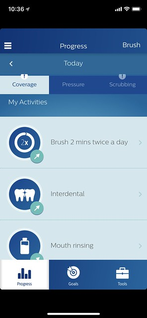 Philips Sonicare iOS App - Progress - Activities