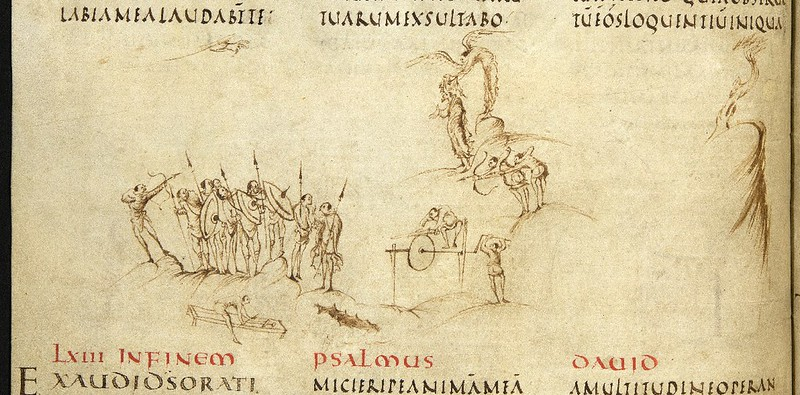 Utrecht Psalter, from Utrecht University Library