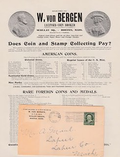 BERGEN, VON, 1902 fixed price circular