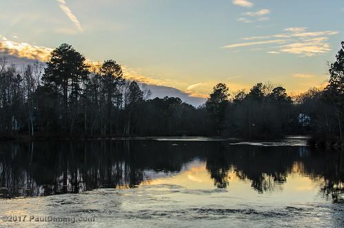 dailyphoto sunsets sunset landscape virginia chesterfieldcountyvirginia chesterfieldcounty lake lakewalk midlothianvirginia swiftcreekreservoir d7000 pauldiming winter midlothian unitedstates us