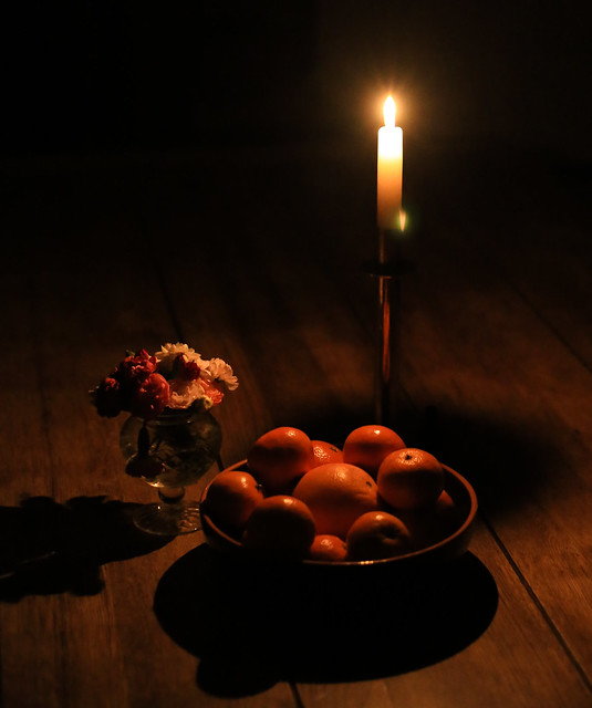 Still life by candlelight - hand-held