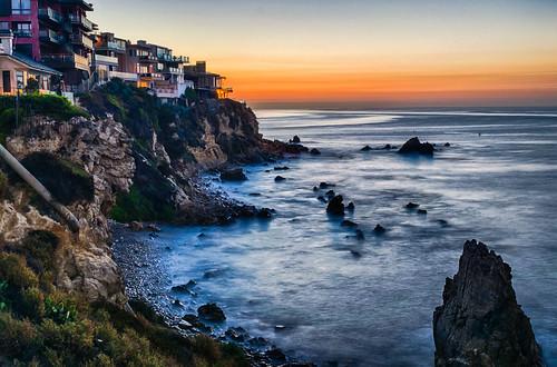 california coronadelmar hdr newportbeach nikon nikond5300 pacificocean beach cliff coast coastline geotagged longexposure morning ocean rocks sea seascape sky sunrise water unitedstates
