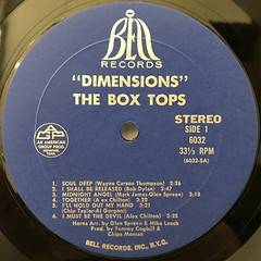 THE BOX TOPS:DIMENSIONS(LABEL SIDE-A)