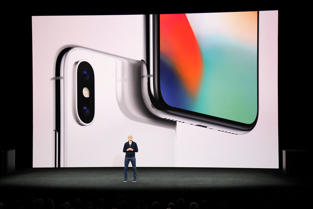 Tim Cook and iPhone X