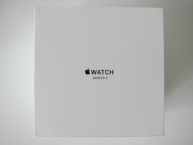 Apple Watch Series 3 Space Black Stainless Steel Case with Space Black Milanese Loop - Box Top