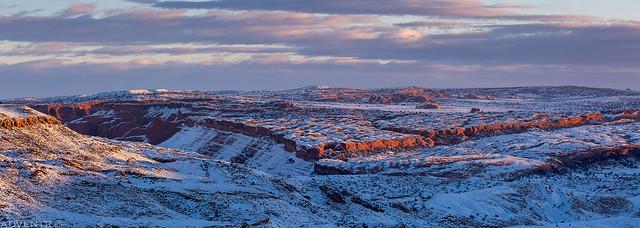 Winter Camp Ridge Sunrise