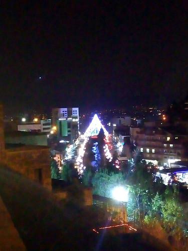 zahle christmas nightlights views rivers