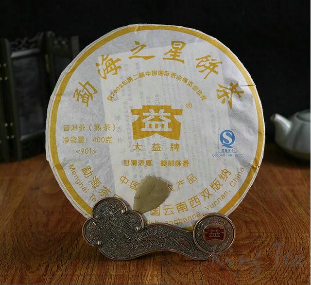 2009 TAE TEA Dayi Meng Hai'Star Cake Bing 400g YunNan Menghai Puerh Ripe Cooked Tea Shou Cha