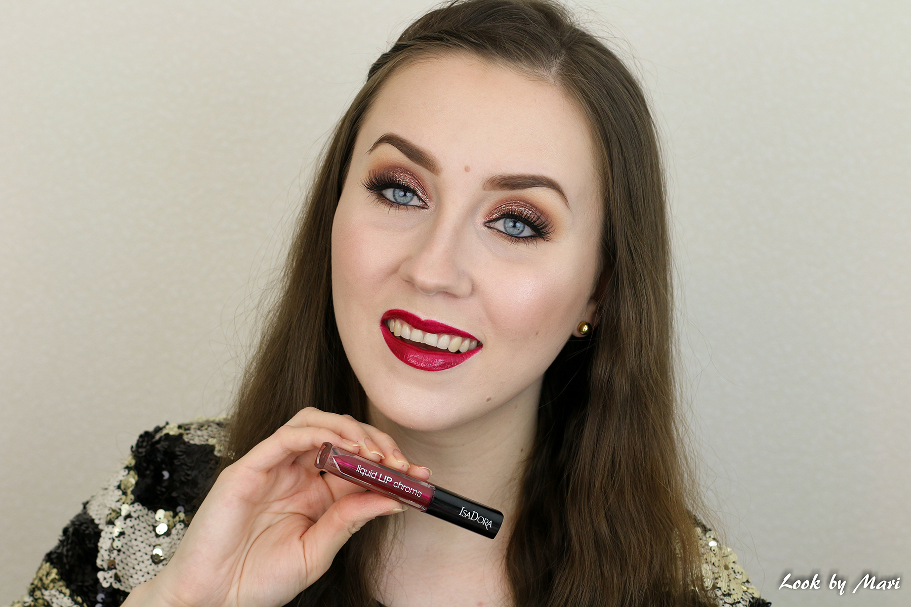 10 isadora liquid lip chrome 42 glamour wine swatches swatch review
