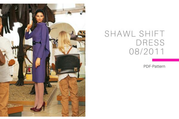 Shawl Shift Dress