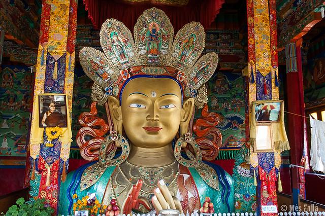 Buda Maitreya en el monasterio de Thiksey
