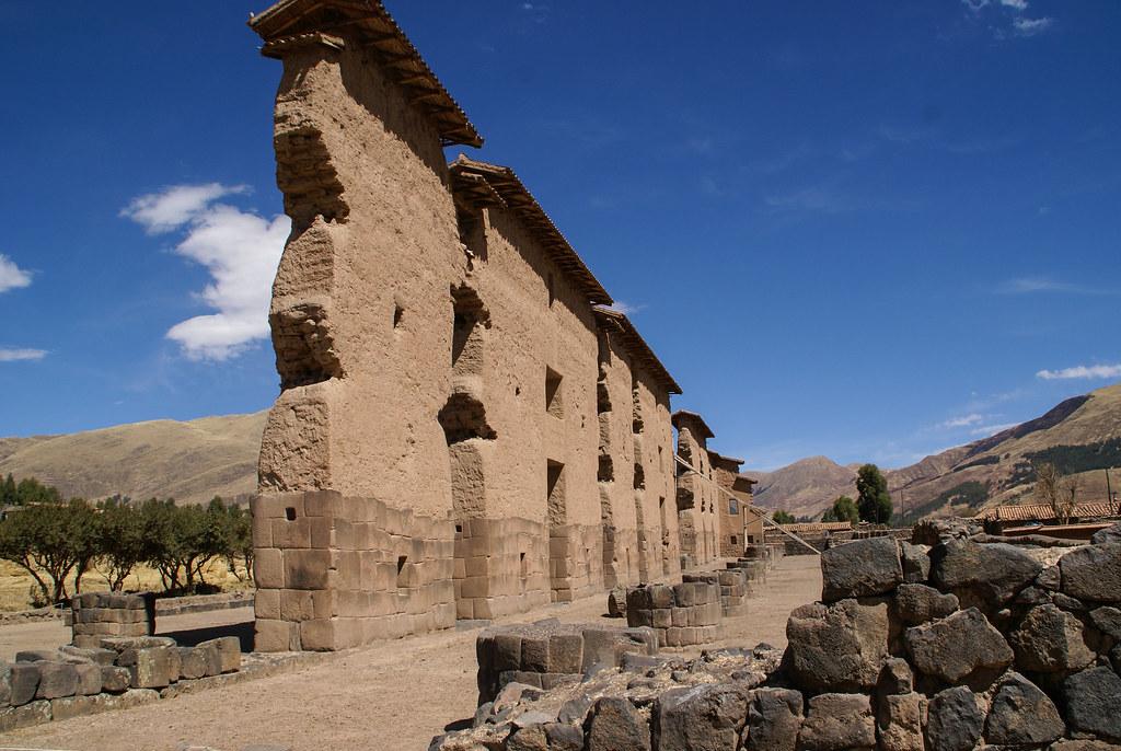 Überreste eines riesigen Inka-Tempels