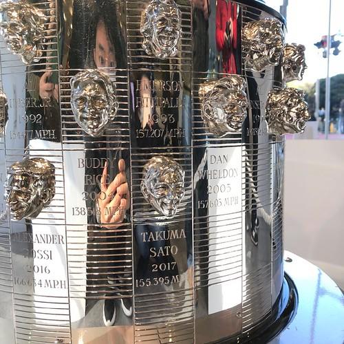 The Borg-Warner Trophy at Honda World Headquarters