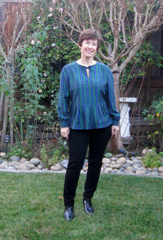 Burda blouse full length outside