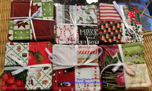 Six sets of coasters to gift