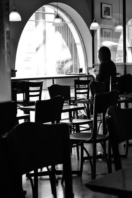 in a cafe