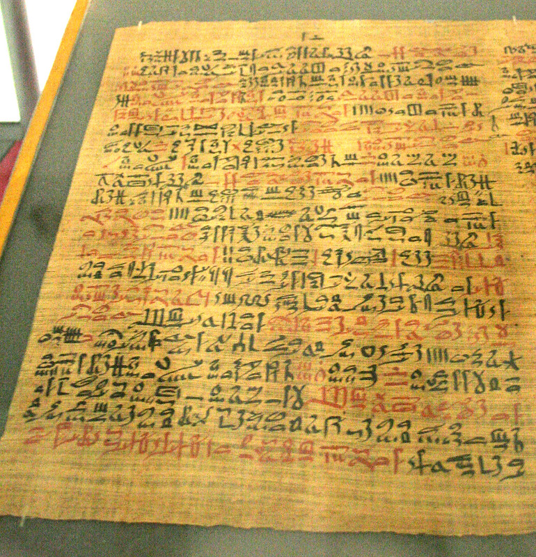 The Ebers Papyrus, column 41