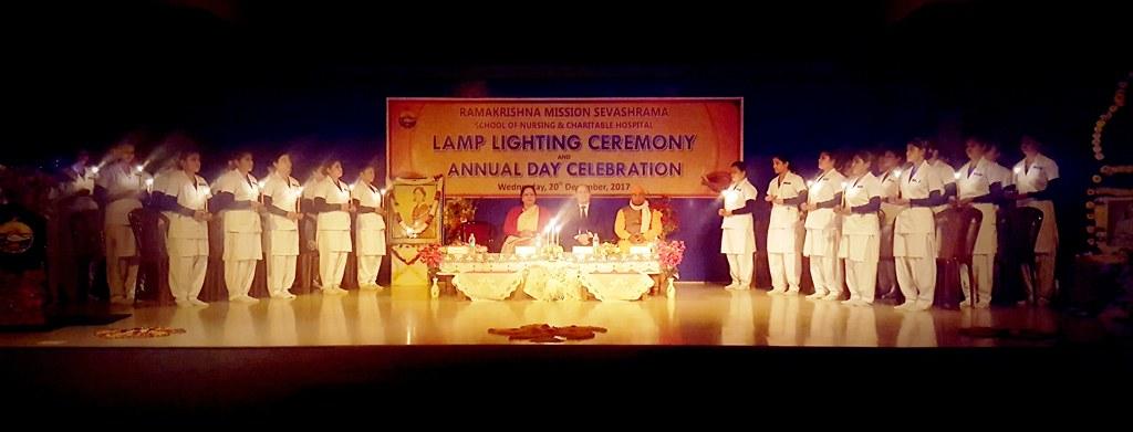 Lamp Lighting Ceremony 2017, Ramakrishna Mission, Vrindaban