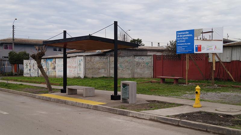 Construcción Paraderos - Barrio Región del Maule – Molina