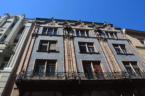 Eine prächtige Jugendstilfassade in Budapest