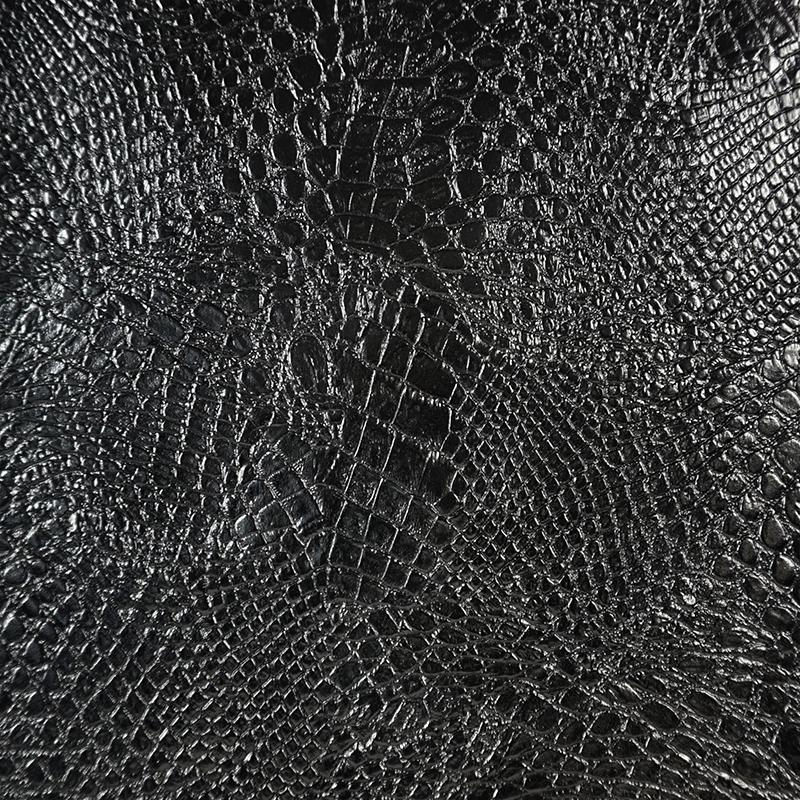 黑色鳄鱼皮 动物皮纹 合成皮革 手工艺diy 装饰服装布料 居家布置 hb