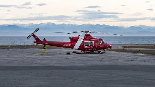 cgckq canadiancoastguard bell 412ep aviation aircraft helicopter chopper heli cyzt porthardy britishcolumbia canada bcpics