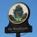 English Pub Sign - The Woodlands, St Helens