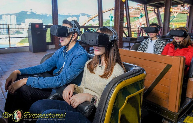 1st Virtual Reality Rollercoaster in Hong Kong