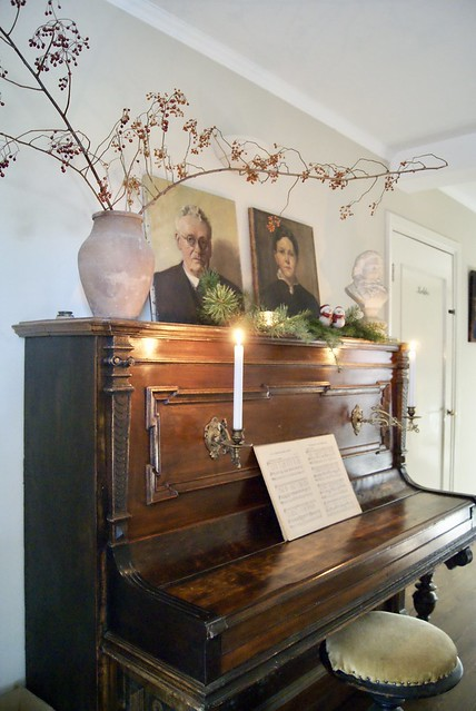 Piano in kerstsfeer