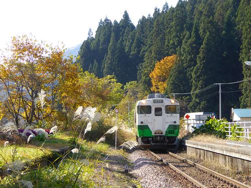 会津西方駅にて2017年11月撮影