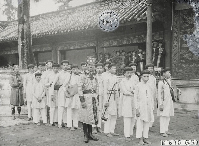Le Nam-Giao 1924 - Les musiciens du Roi. Lễ tế Nam Giao 1924 - Ban lễ nhạc cung đình