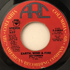 EARTH, WIND & FIRE:SEPTEMBER(LABEL SIDE-A)