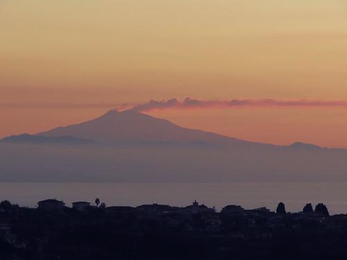 Etna at sunset