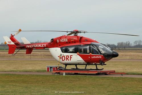 DRF Luftrettung EC145 D-HDRR @ Halle-Oppin