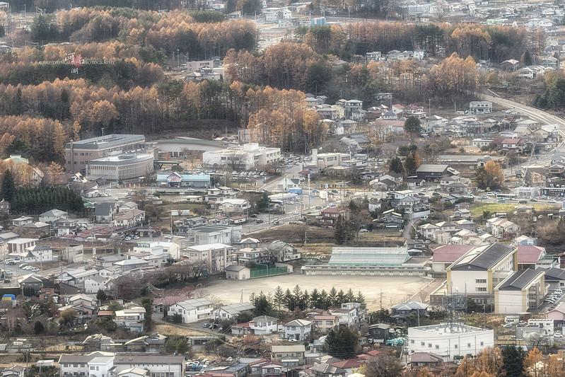 河口湖小城市