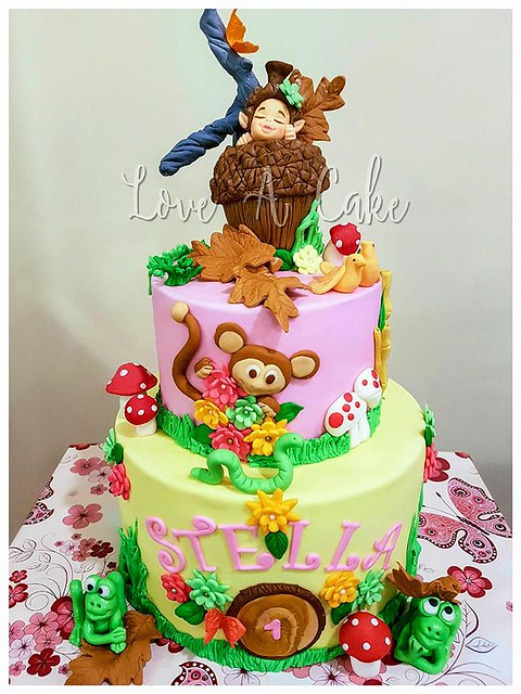 Forest Themed Birthday Cake by Love A Cake