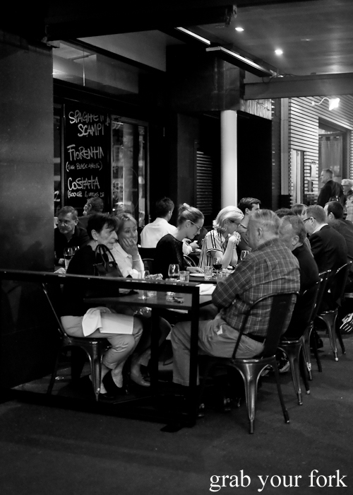 Al fresco diners at Fratelli Paradiso in Potts Point