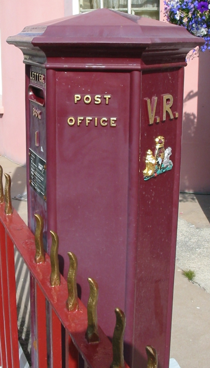This VR box in Guernsey is the oldest box in use in the British Isles. Photo taken on June 23, 2006.