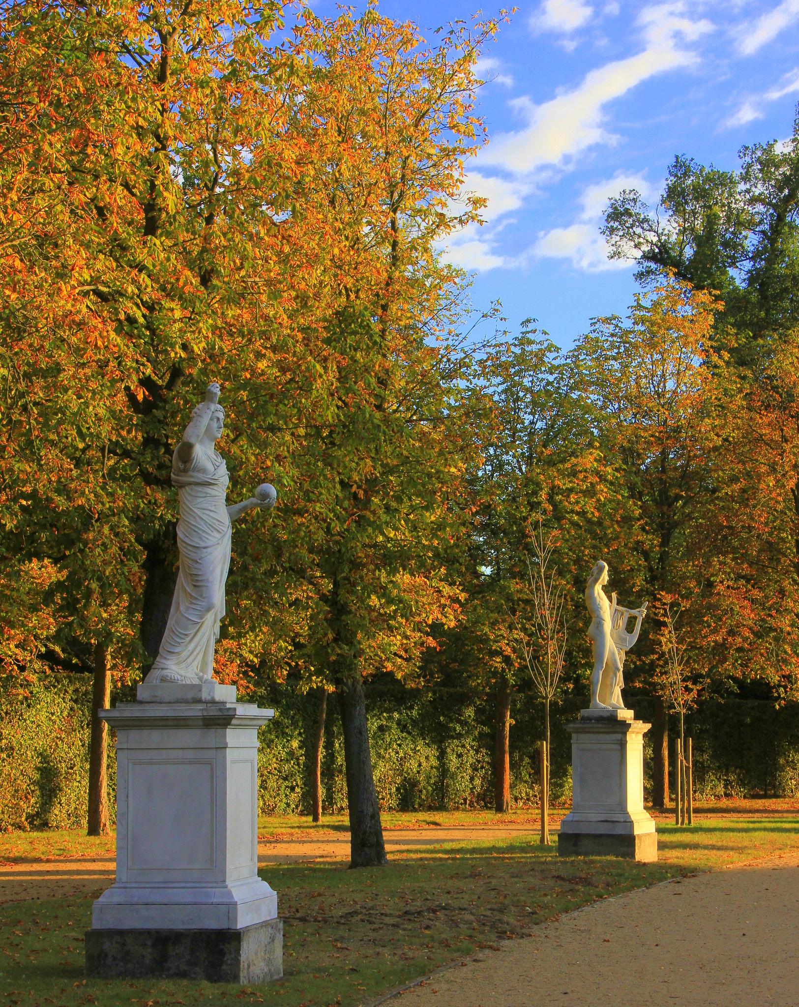 Statues in the sansoucci garden in Potsdam