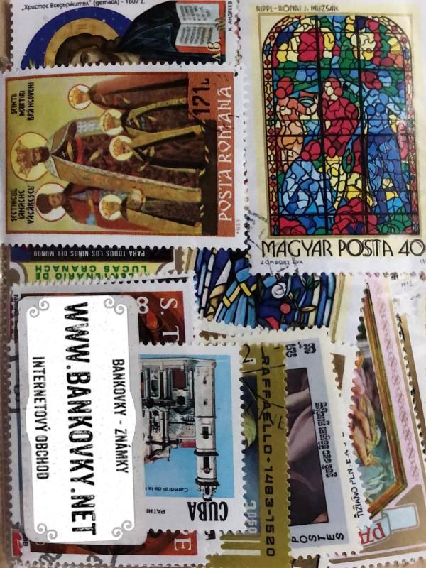 Známky tematické - náboženstvo balíček 100 ks rôznych
