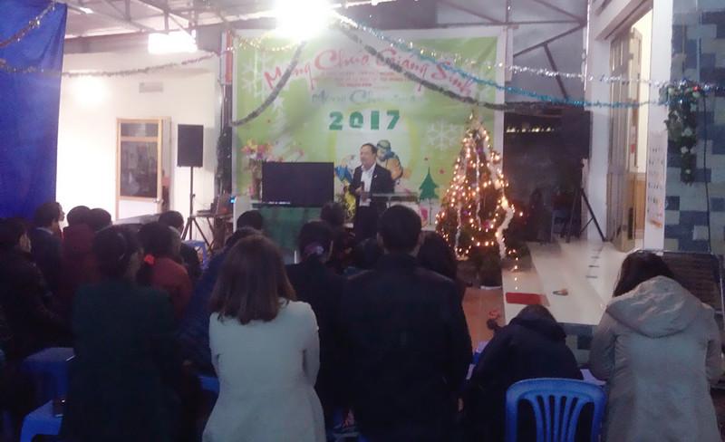 Hòa Bình - điểm nhóm kỳ sơn giáng sinh có 45 người tham dự