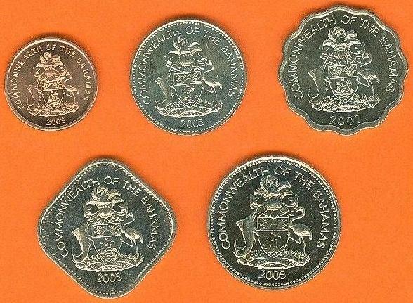 BAHAMAS 1-5-10-15-25 Cents 2005-2009
