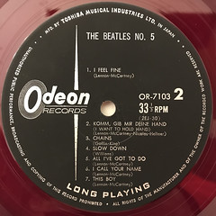 THE BEATLES:THE BEATLES NO.5(LABEL SIDE-B)