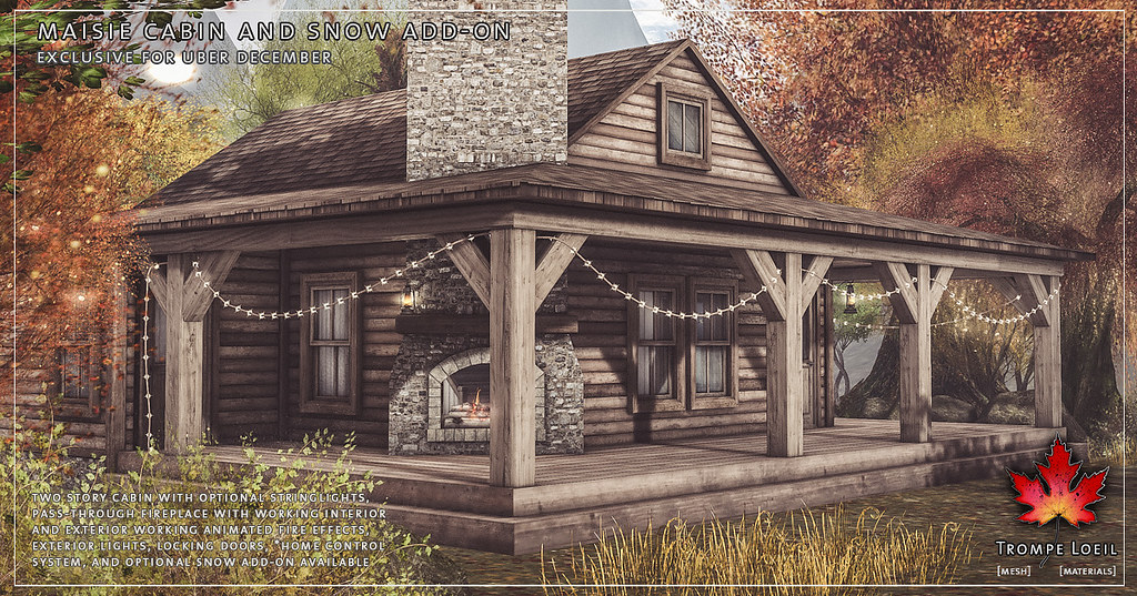 Trompe Loeil - Maisie Cabin and Snow Add-On for Uber December - TeleportHub.com Live!